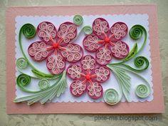 quilled flower cards / quilling virágos üdvözletek