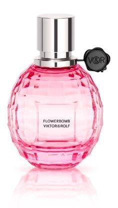 Sparkling Eau de Toilette 'Flowerbomb la vie en rose' by Viktor & Rolf.