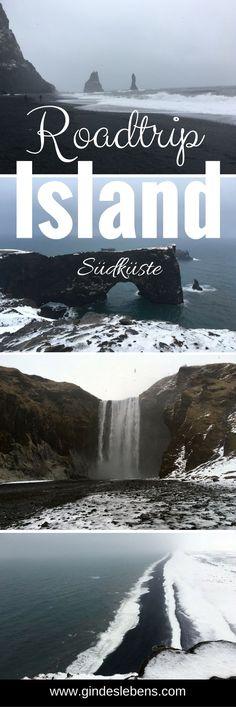 Island Roadtrip - die Südküste. Wasserfälle, schwarze Strände und Europas größter Gletscher. Island im Winter erleben. #Island #Winter #Winterreiseziele #Roadtrip