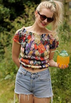 Stretchy Floral Crop Top  £16.50