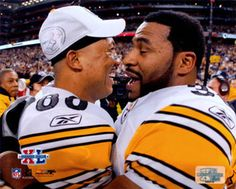 Super Bowl XL - Hines Ward And Jerome Bettis