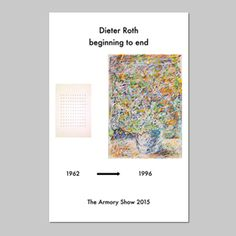 Dieter Roth Beginning to end 2015