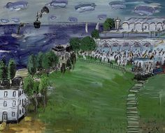 Carlos Nadal (1917 - 1988) Racetrack at Deauville, 1977