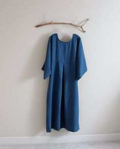 plus size kimono dolly linen dress by annyschooecoclothing on Etsy