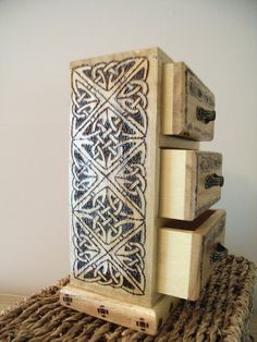 Celtic Jewelry Cabinet by CelticJourney on Etsy, €30.00