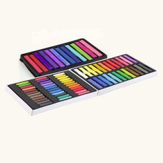 1 set 24 Colors Non-toxic Temporary Pastel Hair Square Hair Dye Color Chalk