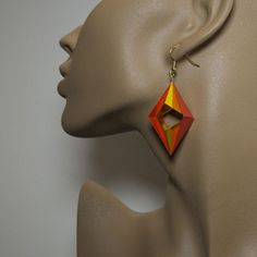 ORIGAMIDO Origami Jewelry - Twin Arrowhead Bead by Michael Lafosse