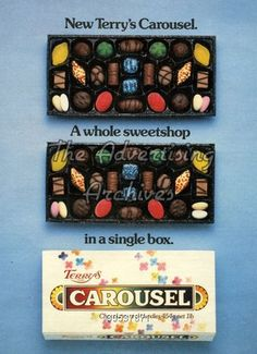 Magazine Advert Terry's 1980s British Candy, British Sweets, Chocolate Brands, Chocolate Sweets, Chocolate Names, Chocolate Box, Retro Recipes, Vintage Recipes, Childhood Toys