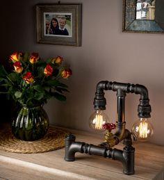 Gloeilamp Pipe slaapkamer tafellampen in Retro ontwerp door LuxmaLtd