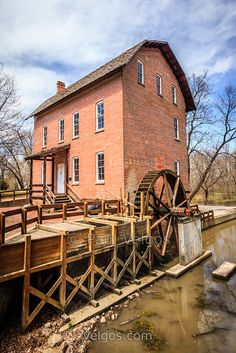 Photo of Deep River Grist Mill in Northwest Indiana. The Wood's Grist Mill is in Deep River County Park in Hobart Indiana and was built by John Wood in the early 1800's.