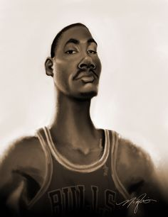 Caricature of Derrick Rose by Nick Jarvis