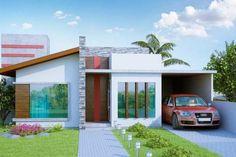 Casas modernas con techos inclinados