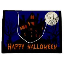 Large Haunted House Gift Bag Large Gift Bags, House Gifts, Happy Halloween, Movie Posters, Film Poster, Popcorn Posters, Film Posters, Posters