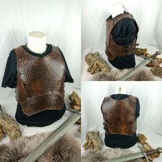 Soon on sale in my etsy shop. Leather Armor, Leather Corset, Barbarian Armor, Armadura Cosplay, Cosplay Armor, Shield Maiden, Prop Making, Fantasy Costumes, Larp