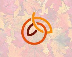 Autumn. Mark by (C)Edoudesign  #autumn #leaf #leaves  #edoudesign #logomaker #symbol #mark #logo #logotype #typetopia