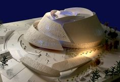 Massar Children's Discovery Centre Syria, design like a Rose by Henning Larsen – Interior Design, Design News and Architecture Trends A As Architecture, Organic Architecture, Architecture Portfolio, Futuristic Architecture, Architecture Diagrams, Beautiful Architecture, Henning Larsen, Arch Model, Scale Models
