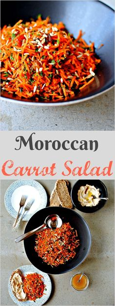 Moroccan is a crunchy colourful and tangy side salad for alongside your favourite dips, grilled seafood, and anything vaguely North African. Moroccan Desserts, Moroccan Dishes, Moroccan Recipes, Morrocan Food, Moroccan Salad, Indian Food Recipes, Vegetarian Recipes, Cooking Recipes, Vegetarian Italian