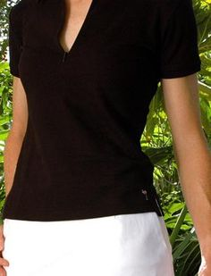 Check out our Golftini Short Sleeve Black Zip Polo for $75.00
