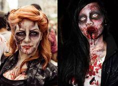 vintage halloween makeup | 45 Creative Halloween Face Makeup Looks & Ideas | people painting 2 ...