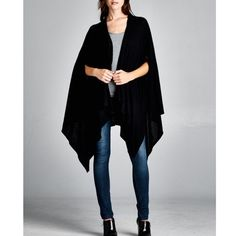 """X """"Slit Whisper"""" Asymmetrical Open Cardigan Black asymmetrical cardigan perfect for the fall! Brand new. ABSOLUTELY NO TRADES. Bare Anthology Jackets & Coats"""