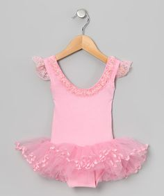 Take a look at this Pink Rosette Skirted Leotard - Infant, Toddler & Girls by Seesaws & Slides on #zulily today!