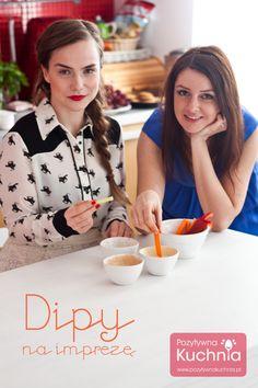 Dipy na imprezę, które przygotowałyśmy razem z Radzka :)  http://pozytywnakuchnia.pl/dipy/  #dip #przepis #kuchnia