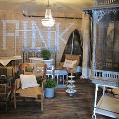 One of my favorite places for inspiration! PINK located in Spokane, WA. Vintage, salvage, repurposed wonderfulness!
