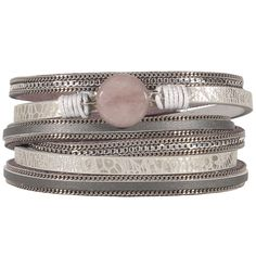 Bracelet fantaisie multi rangs et multi tours en métal argenté #Bracelet