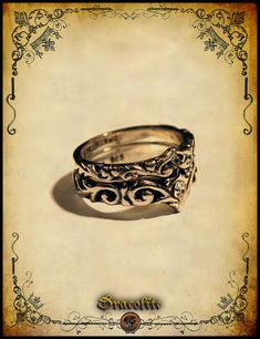 If the budget is a little tight this is perfection Medieval Wedding ring duo women  Sterling silver 925 by Dracolite, $68.00