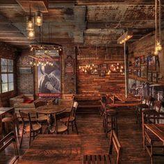 diy saloon decor - diy salon dekor - home decoration - haus dekoration Decoration Restaurant, Design Bar Restaurant, Deco Restaurant, Western Restaurant, Restaurant Tables, Pub Design, Coffee Shop Design, Wood Design, Bar Western