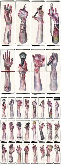 Hands Project by Katia Bezdar - Watercolor on Moleskine
