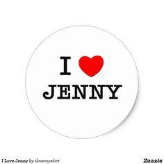 I Love Jenny Classic Round Sticker