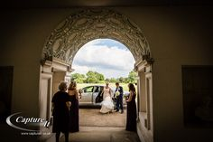Bride arriving at Syon Park.