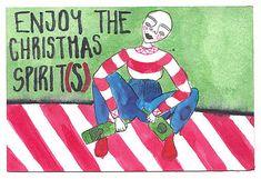 Franco_and_the_moon / Vianočná Pohľadnica