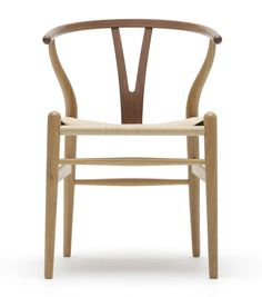 Carl Hansen Wishbone Chair Geflecht natur / Rücken Eiche/Walnuss