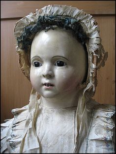 Voit Pauline, Antike Pappmachée-Puppe, 90cm Sammlung: Lommel