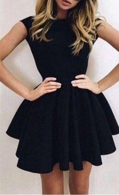 Charming Prom Dress,Black Prom Dress,Elegant Prom Dress,Short Prom