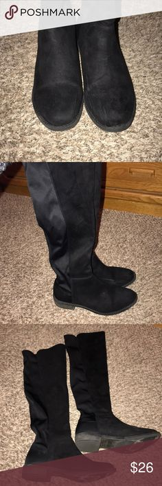 Rebel by Zigi Oola over the knee boot Slightly worn and scuff on toe as shown in pic. Elastic shaft to easily pull up. Shoes