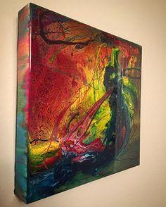 Testing out some new color combos . . . . . . . . . . . #resinart #resinartist #resinpainting #acrylicpainting #mixedmedia #acryliconwood #woodpanel #ontarioartist #canadianart #londonontario #ldnont #texture #artresin @goldenpaints #reflection #12x12 #modernart #contemporaryart #testing #colorcombo #abstractart #abstractpainting #fluidpainting #wip