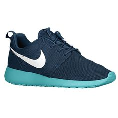 Nike Rosherun - Mens - Running - Shoes - Squadron Blue/Sport Turquoise/Gamma Grey