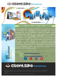 Printing oakville printing clientside marketing offers a complete range of digital printing services in burlington including full colour printing colourmoves