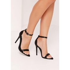 Missguided Satin Pointed Toe Barely There Heels ($40) ❤ liked on Polyvore featuring shoes, pumps, black, black pumps, black pointy toe pumps, pointy toe pumps, pointed toe high heel pumps and pointy toe high heel pumps