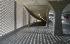 Play of light and shadow in architecture: Ciudad Universitaria Caracas, Venezuela, 1960s. By Carlos Raúl Villanueva.