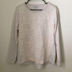 Beautiful Van Heusen cream sweater! Beautiful Van Heusen cream sweater with floral print. NWOT, smoke free home. Perfect with jeans or leggings. NOT LOFT LOFT Sweaters