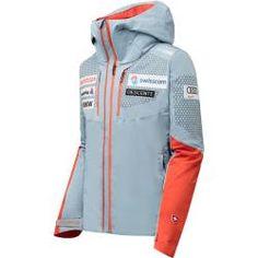 Descente Men Dtl Jacket Swiss Replica titanium - 48 DescenteDescente Ski Suisse, Sponsor Logo, Ski Fashion, Fashion Outfits, Mens Ski Wear, Swiss Ski, Team Jackets, Ski Racing, Mens Skis