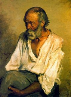 Pablo Picasso-Old fisherman