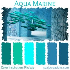 Aqua Marine color scheme from suziqcreations.com