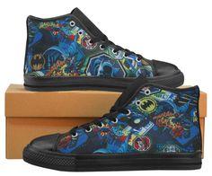 BATMAN ADAM WEST Inspired Men Hi Top Basketball Shoes