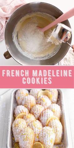 Madeleine Recipe, Madeleine Cake, Cookie Recipes, Pastry Recipes, Baking Recipes, Dessert Recipes, French Cake, Madeline Cookies Recipe, Amazing Food Videos