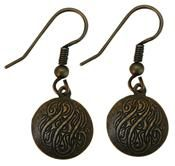 Faux Initial Earrings in our Brass ox finish....perfect for Fall! #classiclegacy
